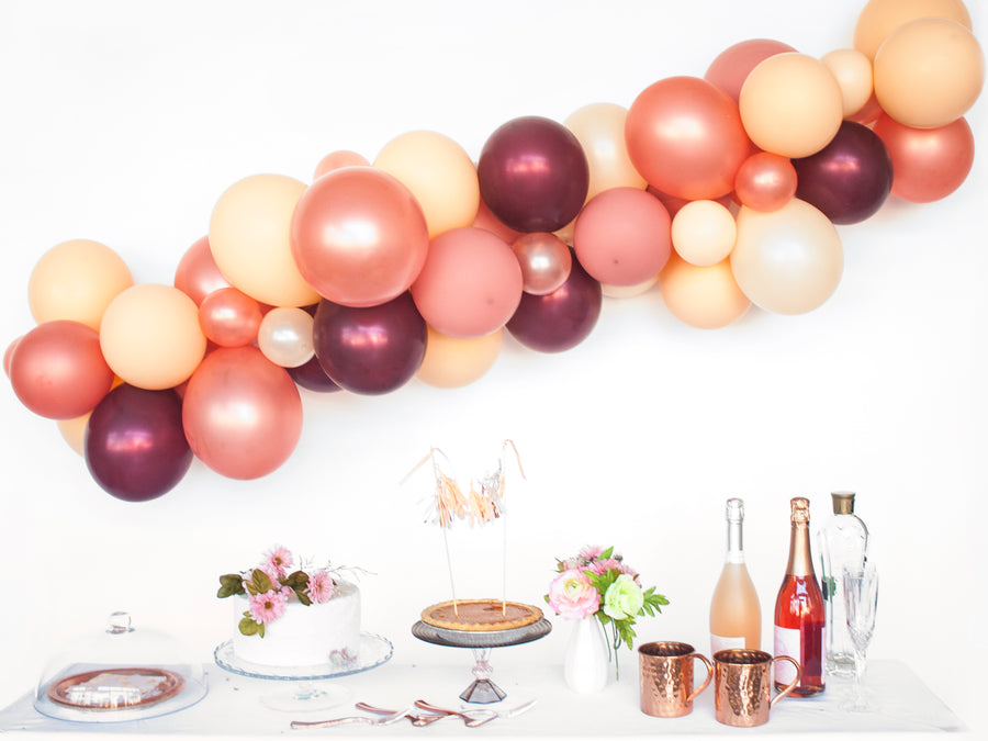 Balloon Garland DIY Kit in Wine & Blush