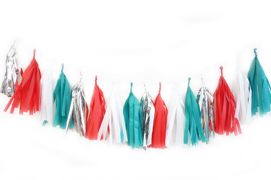 Christmas Tree Tassel Garland