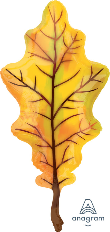 Yellow Fall Leaf Balloon