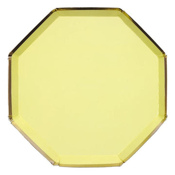yellow paper plate