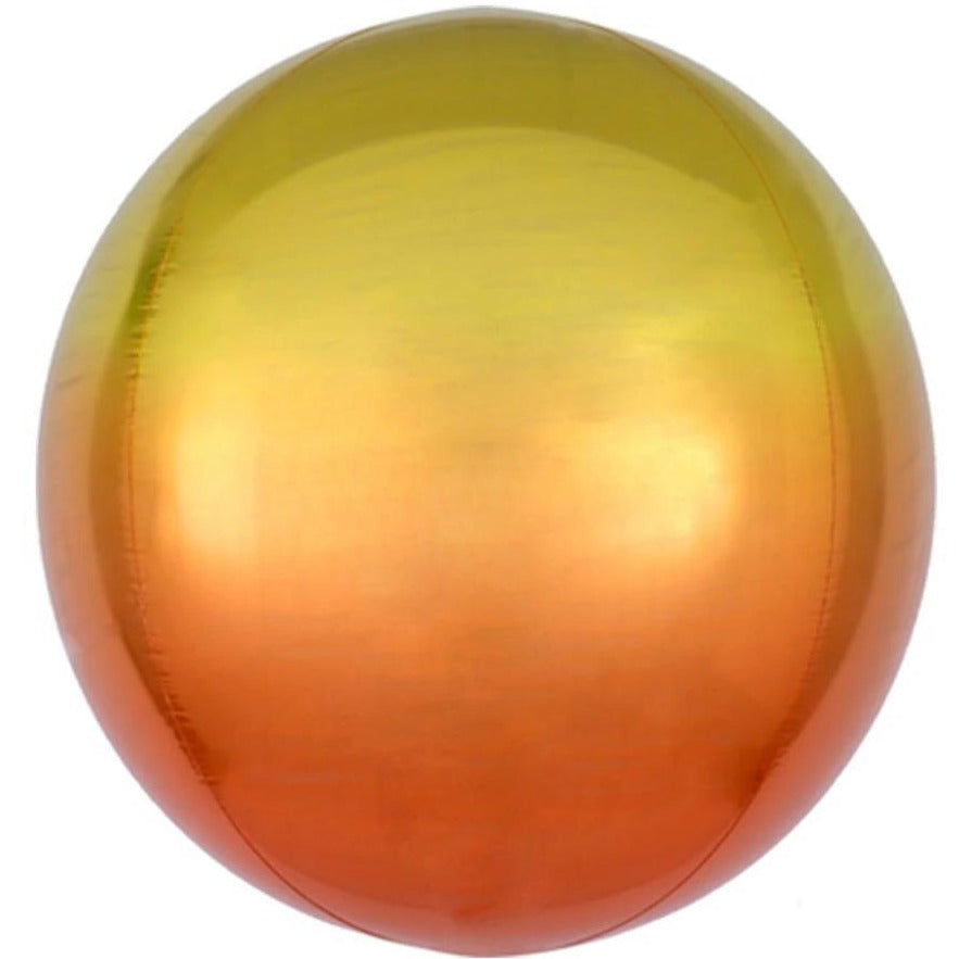 Ombre Yellow-Orange Orb Balloon