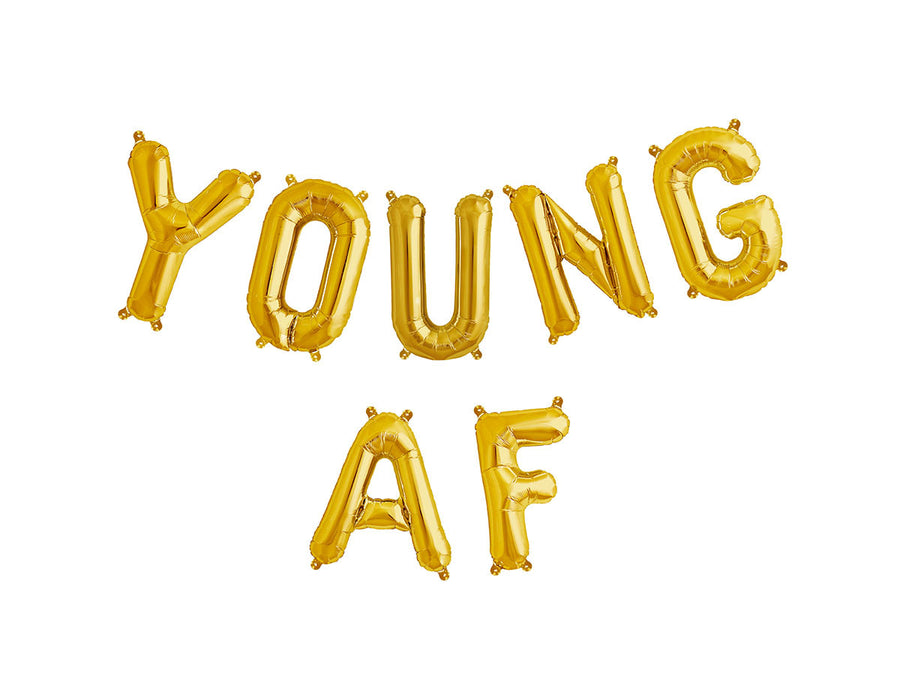 YOUNG AF letter balloon kit