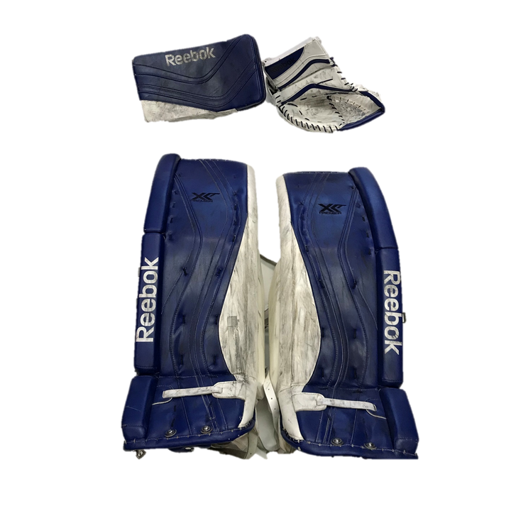 "Reebok XLT Premier (NCAA) - 38"" Used Pro Stock Senior Goalie Pads (Full Set)"