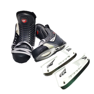CCM U+ CrazyLight Hockey Skates - Size L 8.75D R 8.5D (Not Assembled)