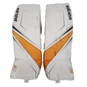 "Bauer Supreme 2S Pro (Kingston Frontenacs) - XL/37"" Used Pro Stock Senior Goalie Pads (Full Set)"