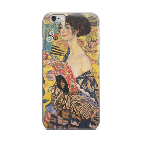 Lady with Fan - Klimt Gustav iPhone case