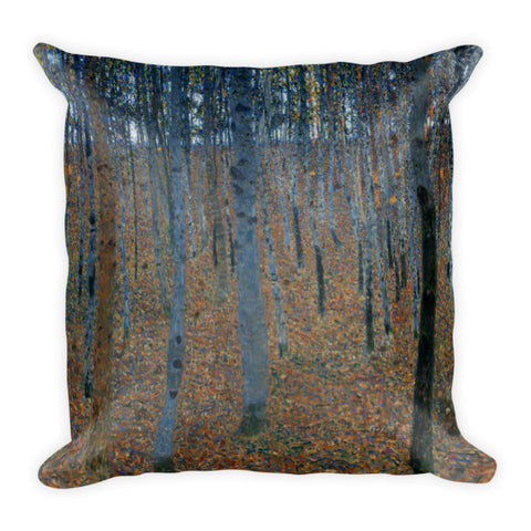 Gustav Klimt, Beech Grove  Pillow