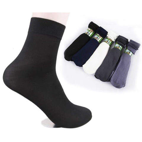 10 Pairs/pack Summer Fashion Cool Black Comfortable Mens Short Bamboo Fiber Socks Stockings Middle Socks