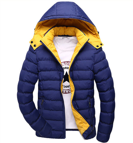 2015 Men Winter Down Coats Men's Cotton Outerwear Large Size M-3XL Super Warm Hooded Design Man Outdoor Thick Jacket