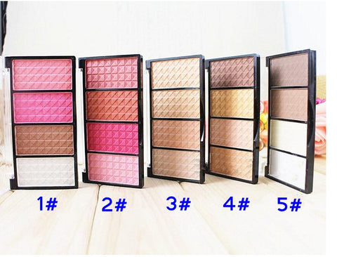 1 Palette 4 Colors Makeup Foundation Blush Bronzer Contour Highlight Shading Powder Beauty Nude Makeup Set
