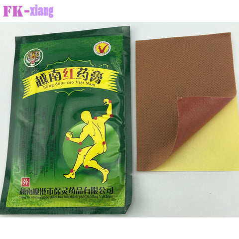16 Pcs Vietnam Red Tiger Balm White Rthritis Strain Massage Relaxation. Capsicum Rheumatism Plaster Joint Pain Killer Patch