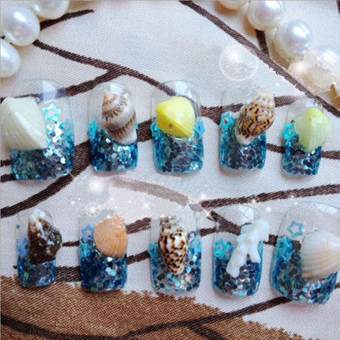 1 Box 3D Nail Decoration Ocean Style Mini Sea Shell Pattern Manicure Decoration #8334909