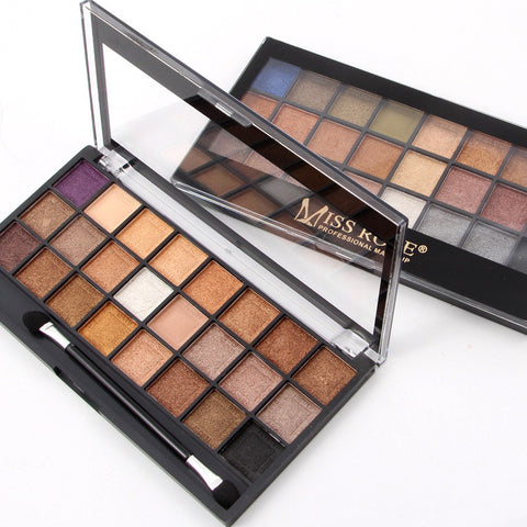 1 Pcs Miss Rose 24 Colour Eyeshadow Palette Multi Colours Eye Makeup Shimmer and Matte Eyeshadow Eyes Makeup  Cosmetics