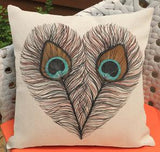 Manufacturers Direct Supply 2016 New Feather Printing Short Soft Plush Decorative Throw Pillow Cushion For Home Chair