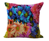 Colorful 3D Pencil Geometric umbrella feather Patchwork Cotton Linen Throw Pillow Cushion Home Decor
