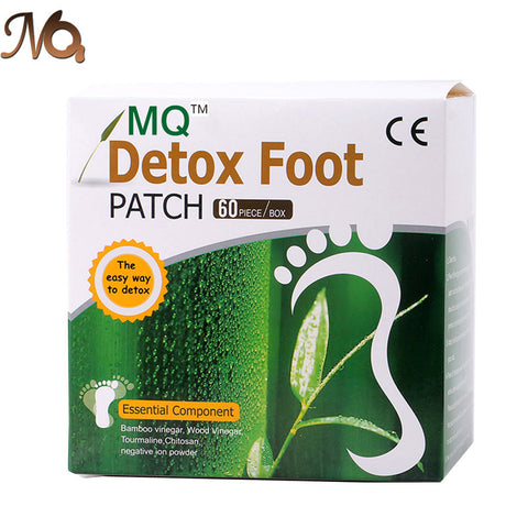 120Pcs=60pcs Patches+60 pcs Adhesives MQ Detox Foot Patch Bamboo Vinegar Fooot Pads Improve Sleep Beauty Slimming Patch