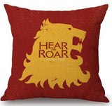 Hit Us Drama A Song Of Ice And Fire / Game Of Thrones Linen Cotton Square Throw Pillow Cushion For Home Decor Gifts