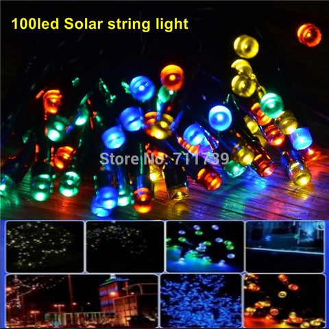 100LEDs 12 m Waterproof Decorative Copper Globe Solar Powered Led StringLights Outdoor Garden Patio Lantern