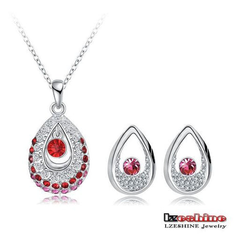 Women Jewelry Set 18K Gold Plated With Austrian Crystal Pendant/Earrings Set Fashion Jewelry