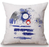 2016 Creative Cartoon Film Watercolor Version Star Wars Series Linen Cotton Throw Pillow Cushion For Children Holiday Gift