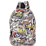 Hippie Facebook Canvas Backpacks Student School Bag Cartoon mc Print Rucksack Outdoor Travel Pack Graffiti Bolsa Mochila XA1065C