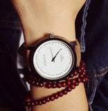 2016 New Fashion Japan Core High Quality PU Leather Quartz Watch Wrist Watch Gift for Women Men Boy Girls 1 Year Warrenty