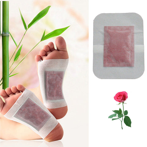 1Pcs Rose Aroma Foot Patch  Detox Foot Patch Bamboo Pads Patches With Adhesive Improve Sleep Beauty Slimming Foot Care Z06101