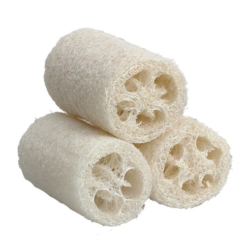 3 Pieces Natural Loofah Luffa Loofa Bath Shower Sponge Spa Body Scrubber Horniness Remover Bathing Massage Sponge FE#8