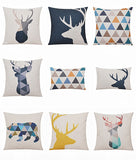 Deer Animals Print Home Decorative Cushion Pillow Room Decors Car Throw Cushion bedding Set For Seat ,Car ,Sofa, Home Decor