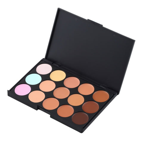 maquiagem New 15 Color Pro Makeup Facial Concealer Camouflage Cream Palette Cosmetic makeup brushes MOST Popular