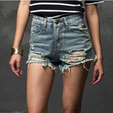 Fashion Short Jeans 2016 Summer Women High Waist Denim Shorts Frayed Hole Female Super Cool Flash Shorts XS-4L Pantalon Femme