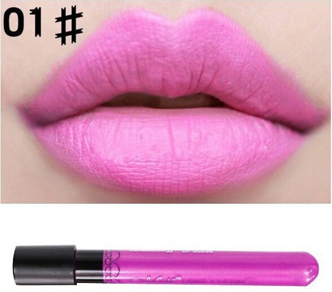 Hot Sale Matte Lipstick Menow Brand 24 colors velvet high quality waterproof long lasting Lip gloss Brand Makeup free shipping
