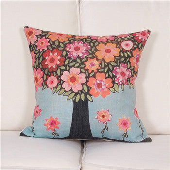 2016 American village  Decorative Throw Pillows Case Linen Cotton Cushion Cover Creative Decoration for Sofa Car Covers 45X45cm