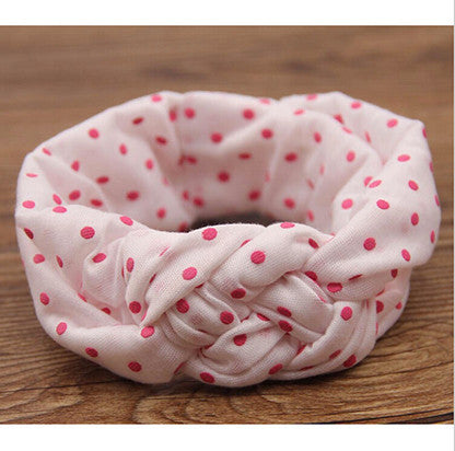 1 pieces Baby Printing Knot Hair Band Baby Girls Headband Ribbon Elasticity Ferret Hair Accessories Headwear W146
