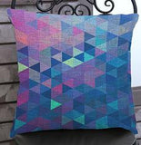 Factory Supply 2016 New Creative Colorful Geometric Lattice Printing Short Soft Plush Throw Pillow Cushion Square 45*45 Cm