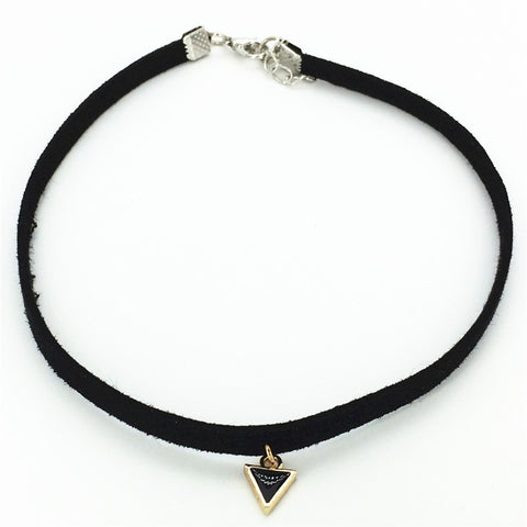 Hot new fashion torques Plain Black Velvet Ribbon crystal pendant necklaces Chokers Necklace for women 2016 jewelry Gift