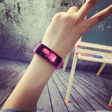 Fashion Cute Candy Jelly LED Screen Soft Rubber Silicone Digital Wristwatches Watch for Women Female Girls Students