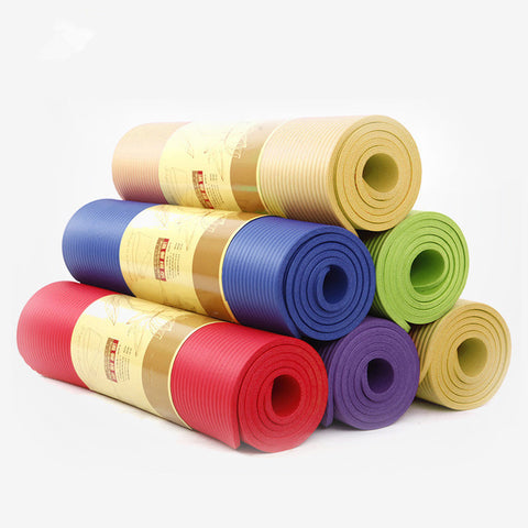 183cm*61cm*1cm Thick Natural Rubber Yoga Mat Fitness Sport Body Building Exercise Mats Nonslip Yoga Mats Camping Picnic Mat