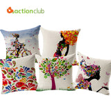 Actionclub New 2016 Rural Home Decor Cushions Bicycle Girls Style Car Home Decorative Throw Pillows Cushion Chair Cushion  HH597