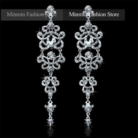 Austrian Crystal Bracelet Earrings Charming Jewelry Sets Bridal Jewelry Amazing Design Jewelry for Women Wedding EH166+SL032