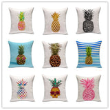 Fresh Fruit Style Home Decor Cushion Pillows Colorful Cute Ananas Printed Fundas Decorative Throw Pillows Almofadas Cojines
