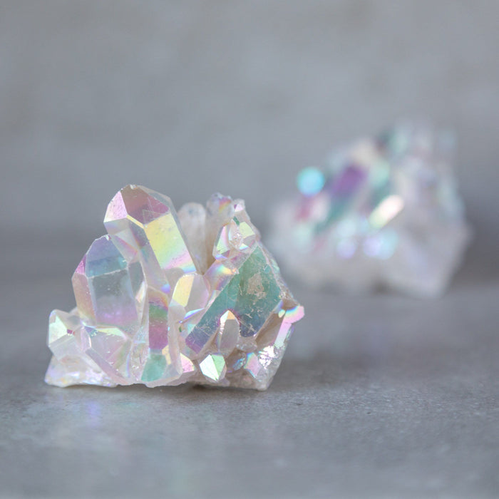 Opal Angel Aura Quartz Raw Clusters - House of Intuition