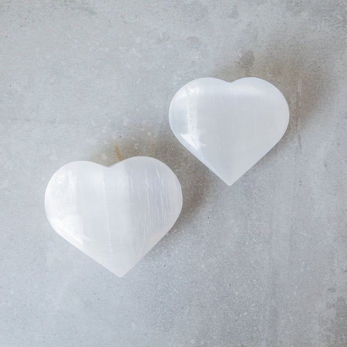 Selenite Crystal Heart - House of Intuition