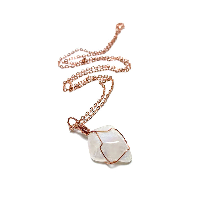 Angel Aura Copper Wire Wrapped Necklace - House of Intuition