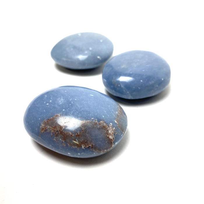 Angelite Palm Stone