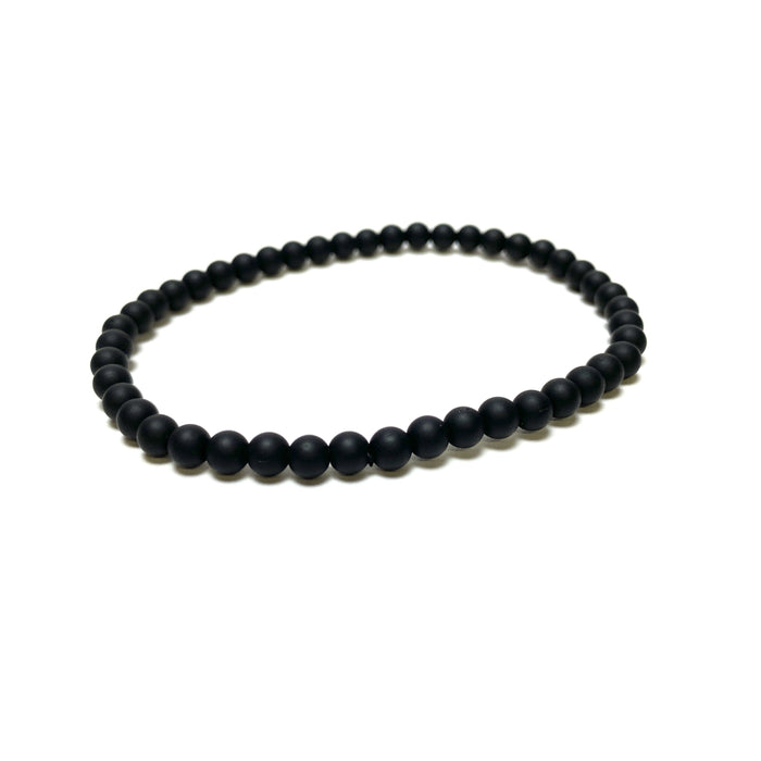 Black Agate Matte Power Mini Bracelet