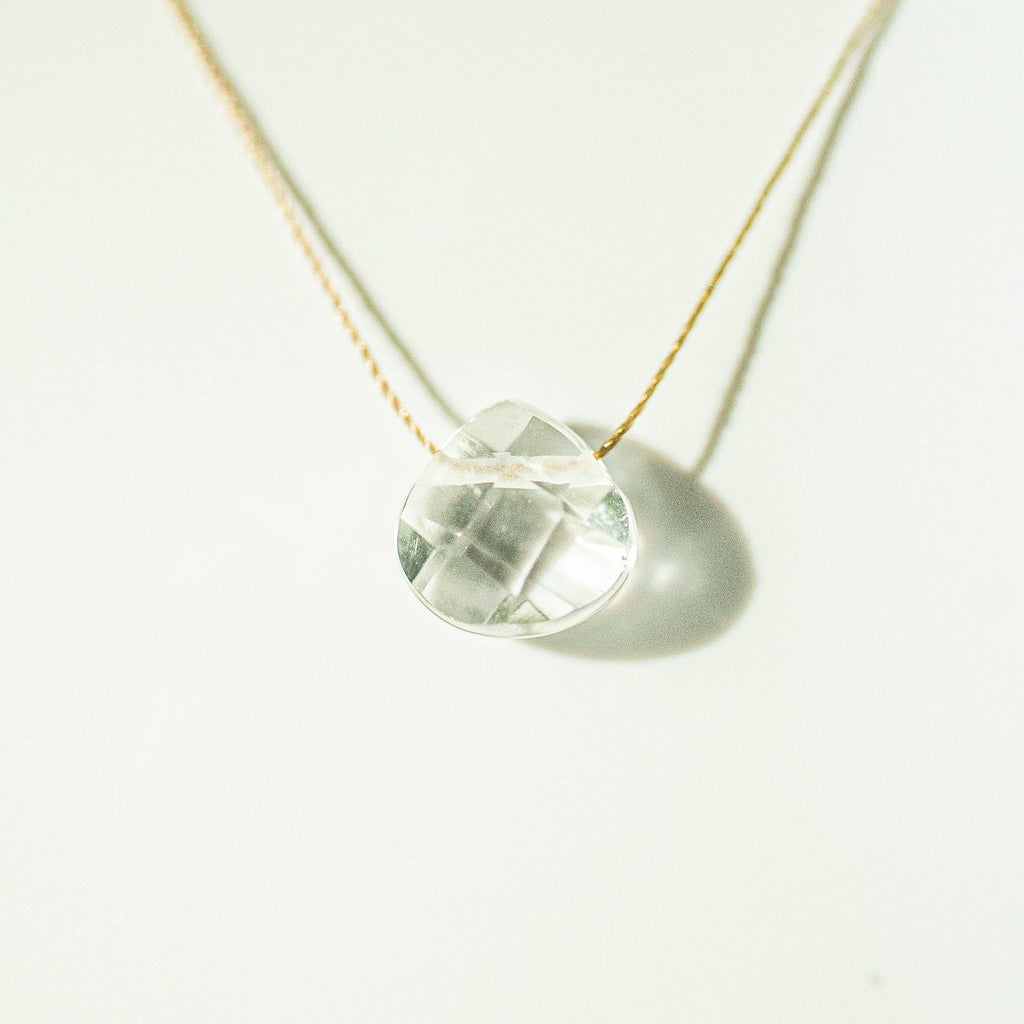 Clear Quartz Teardrop Necklace (I AM MAGIC)