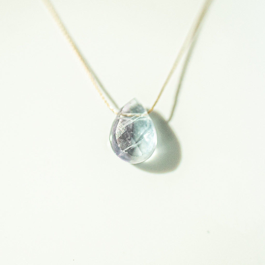 Fluorite Teardrop Necklace (I AM FOCUSED) - House of Intuition