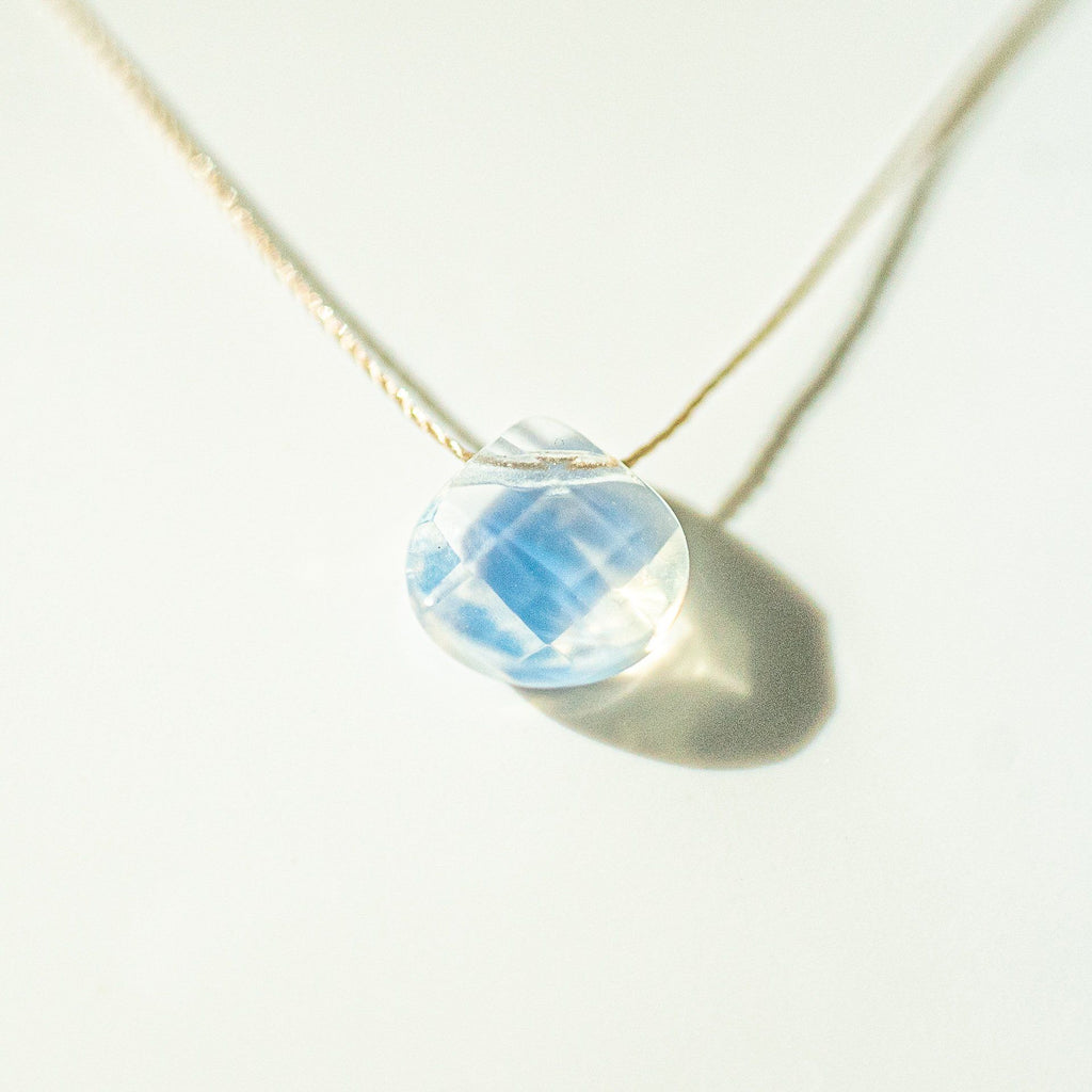 Opalite Teardrop Necklace (I AM CLARITY) - House of Intuition