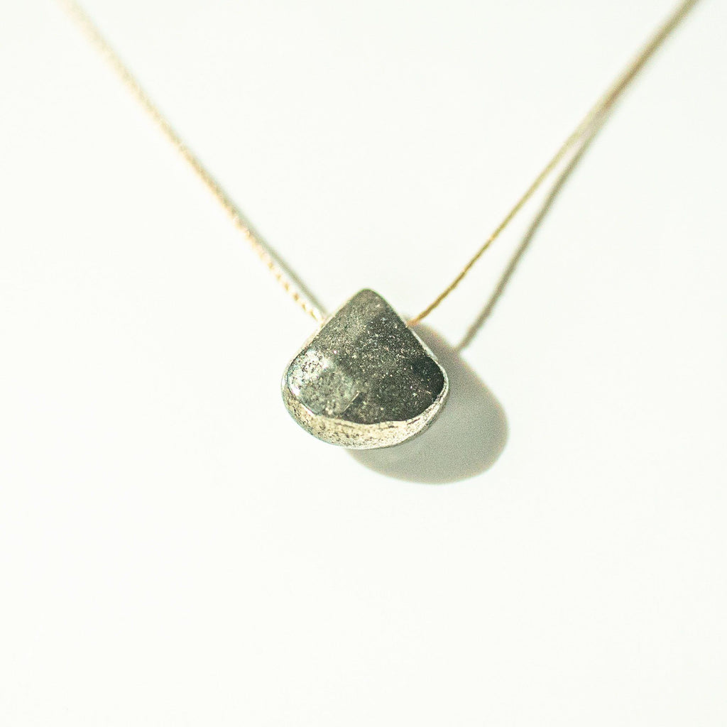 Pyrite Teardrop Necklace (I AM DRIVEN) - House of Intuition
